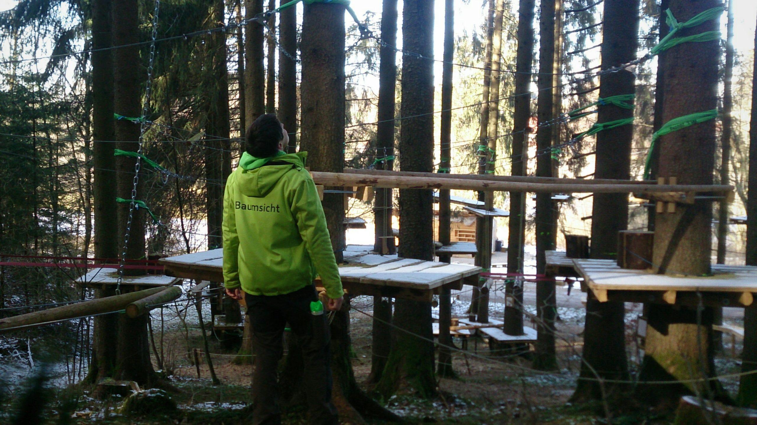 Baumkontrolle Waldseilgarten Ettwieser Weiher