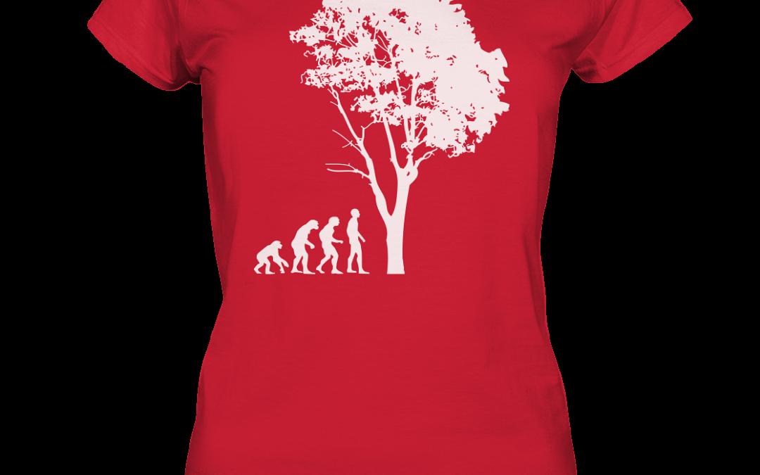 Baum Evolution: Shirts und Hoodie jetzt erhältlich