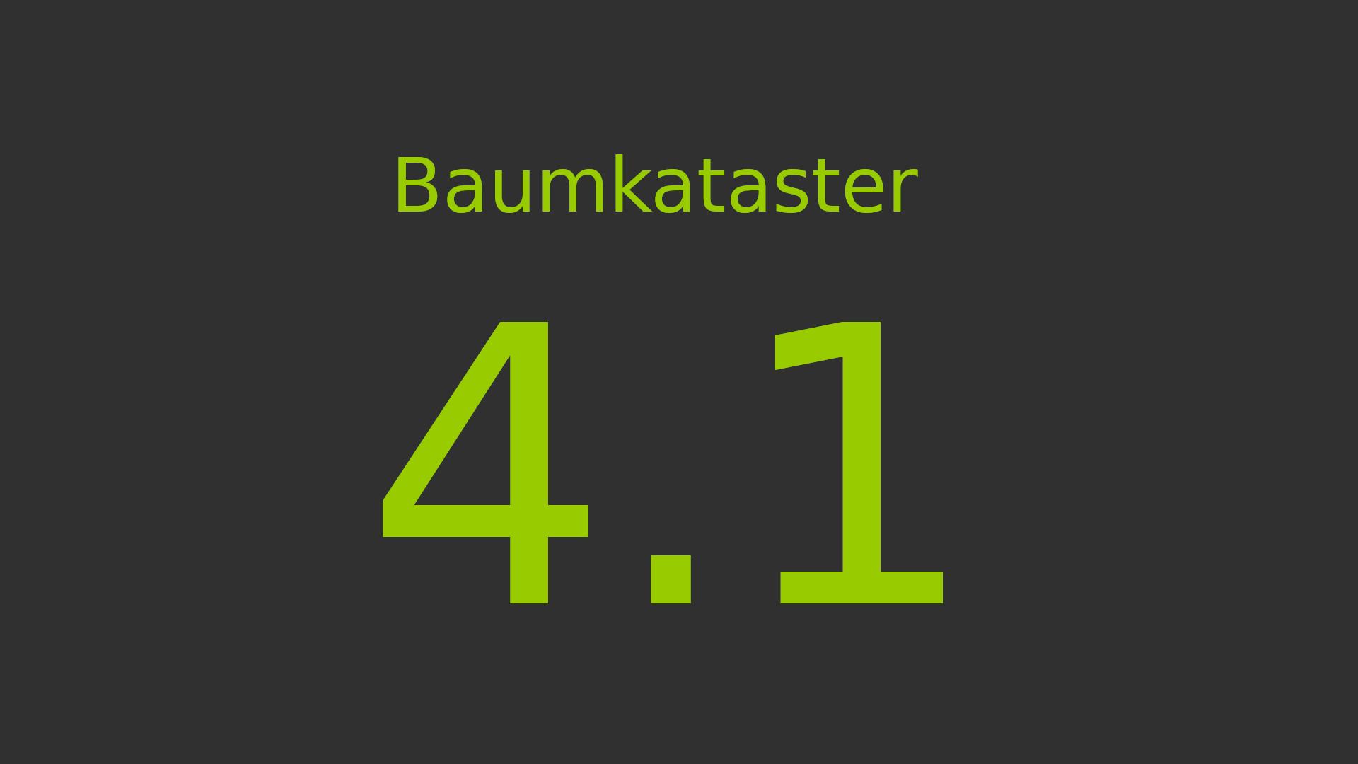Baumkataster 4.1